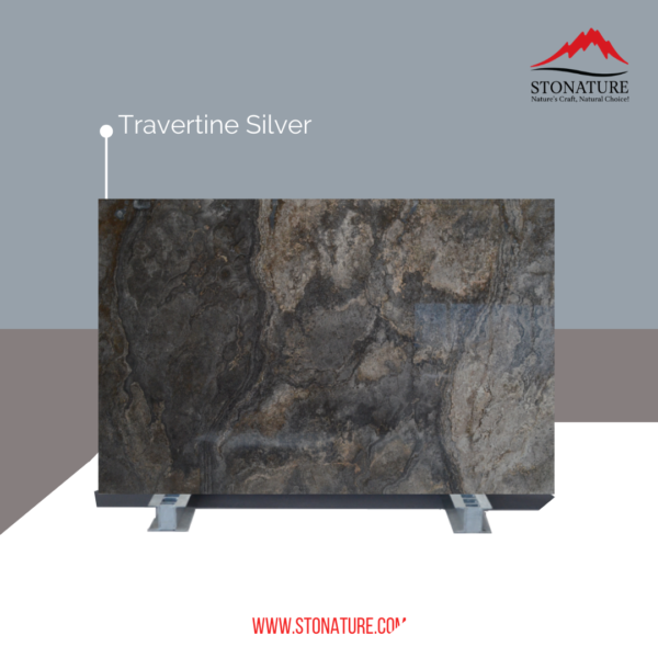 Travertine-silver